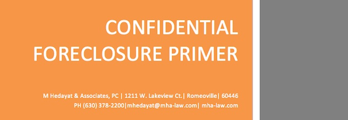 Confidential Foreclosure Primer